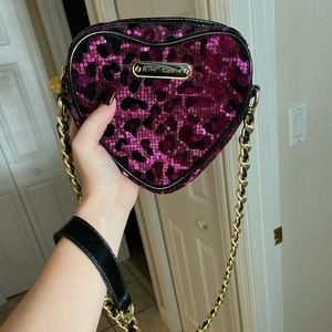 Betsey Johnson Sequined Crossbody Bag